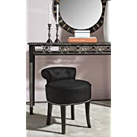 Safavieh Mercer Collection Georgia Vanity Stool, Black