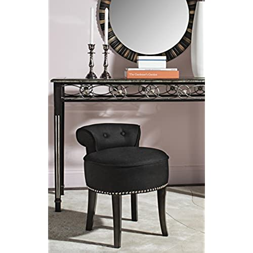 Safavieh Mercer Collection Georgia Vanity Stool, Black