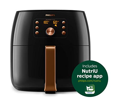 Philips HD9860/91 Premium Collection Air Fryer, with Smart Sensing Technology for Healthy Cooking, Baking and Grilling, XXL, Plastic, 2225 W, 7.4L, 2 Year Warranty, UAE Version