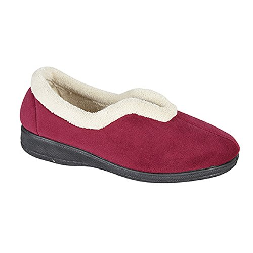 Wine Slippers Throat V Foam Memory Sleepers Olivia Womens Ladies Cqx0ww48P