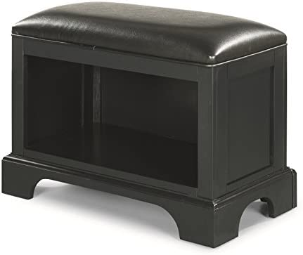 Bedford Black Storage Bench by Home Styles