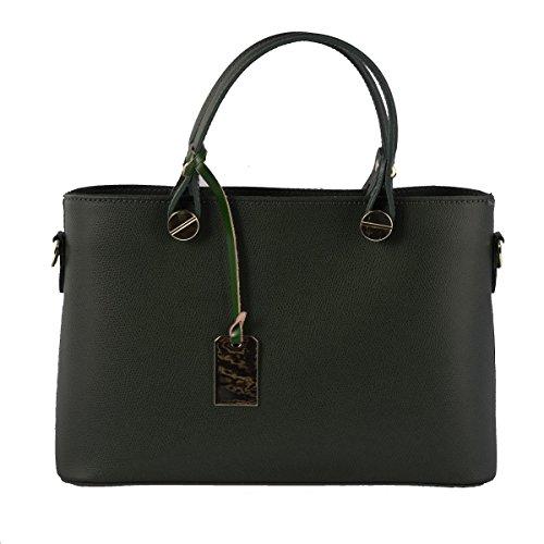 Italie Véritable Maroquinerie in Italy Sac Vert Bags Cuir Foncé Made Fait Véritable Dream Femme En Sac En Leather Main Cuir Couleur à 0anwYqxHt