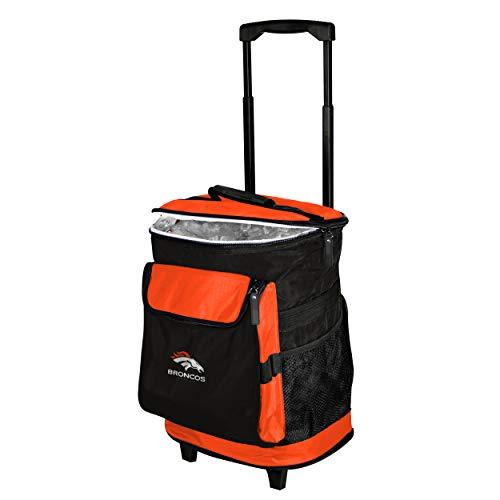 Logo Brands 610-57 Denver Broncos 48-Can Rolling Cooler with Wheels and Backpack Straps, 12 oz, Orange