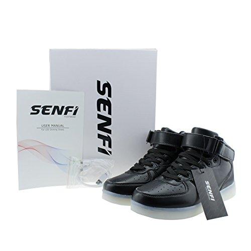 Sneaker Alta Moda Per Uomo / Donna Nero Senfi