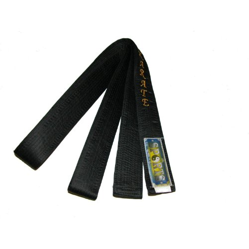Black Belt -MASTER-Silk/Satin KARATE IN ENGLISH Embroidery Karate -240cm
