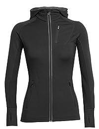 Icebreaker Women's Quantum Long Sleeve Zip Hooded Top