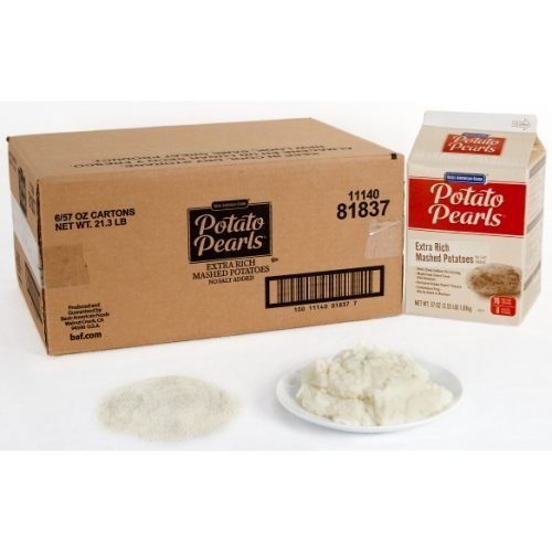 Extra Rich Potato Pearls, 3.5 Pound - 6 Case by Basic American Foods
