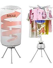 Bakaji Elektrische wasdroger met bal, wasdroger met hete lucht, vermogen 1000 W, met timer 180 minuten en dubbele ventilatie, afmetingen 150 x 65 cm