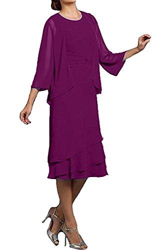 Chiffon Royalblau Abendkleider Partykleider Glamour 2017 Neu Bildfarbe Jacke mit Rund Cocktailkleider KnieKnielang Ivydressing UqIaBw