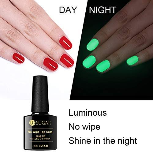 UR SUGAR 7.5ml No Wipe Top Coat Halloween Luminous UV LED Gel Polish Soak Off Long Lasting Nail Art Gel Varnish Manicure -
