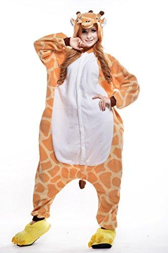 Sunrise Adult Giraffe Onesie Costume Kigurumi Pajamas (Small, Giraffe)