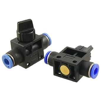 DealMux 6mm a 6 milímetros One Touch Montagem pneumática conector válvula manual (2 peças)