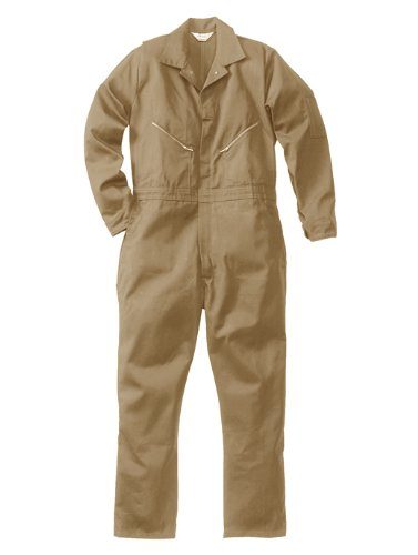 Walls Men's 100% Cotton Coveralls  Khaki Short 46 (Barf Spaceballs Costume)