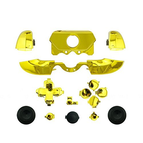 Beracah Bumpers Triggers Buttons Dpad LB RB LT RT for Xbox One Elite Controller Chrome Gold