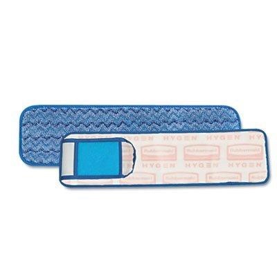 18' Microfiber Wet Mop Pad (Rubbermaid Wet Pad w/Scrubber, Nylon/Polyester Microfiber, 18 Long, Blue (Q415BE))