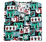 E. Libby Uniforms E. Libby Christmas Day Mock Wrap Scrub Top (L)