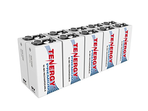 10 pcs of Tenergy Premium 9V 200mAh NiMH Rechargeable Batteries 200 Mah Nickel Metal