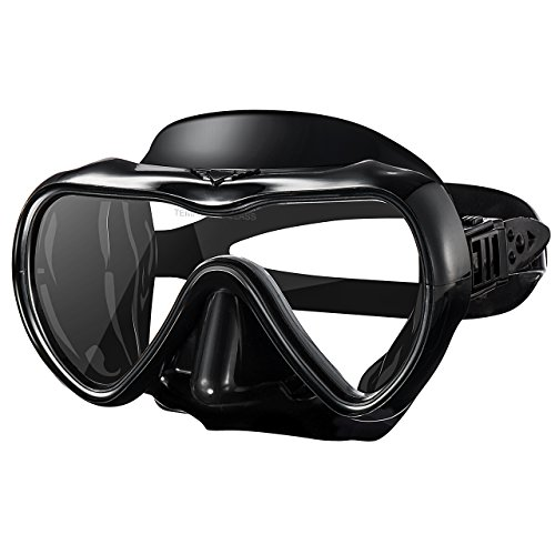 Mpow Adult Diving Mask, Scuba Snorkeling Mask with Anti-Fog Tempered Glass Lens, Soft Silicone Perfectly Fits The Face, Soft Adjustable Strap Head for Swimming, Diving, Snorkeling(Black)