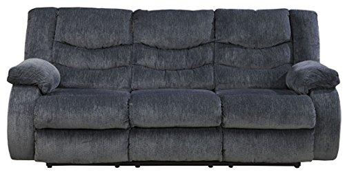 Signature Design by Ashley 9200188 Garek Collection Reclining Sofa, Blue, Manual