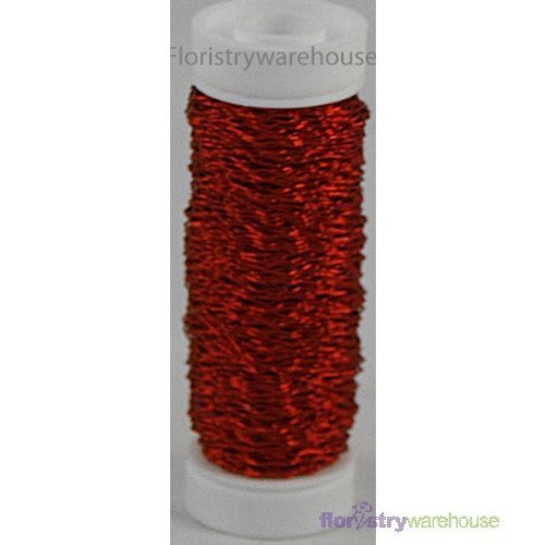 FloristryWarehouse Bullion Floristry Wire Reel 0.88 oz Red