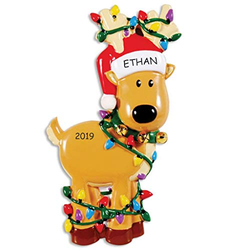 DIBSIES Personalization Station Personalized Winter Fun Christmas Ornament (Reindeer) -
