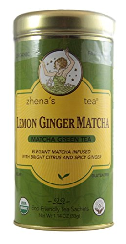 Zhenas Tea - Organic Matcha Green Tea - 1.14 Ounce (Lemon Ginger Matcha)