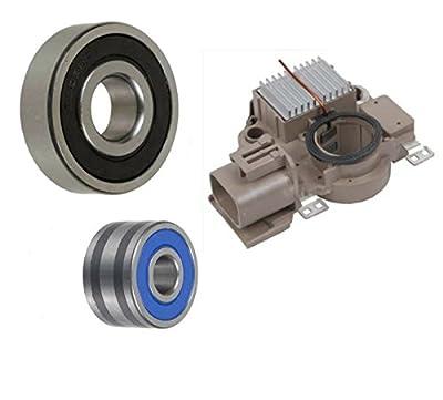 Alternator Rebuild Kit - Voltage Regulator, Brushes, Bearings 2004-2008 Mazda RX-8 (A003TG1291) - 11025RK