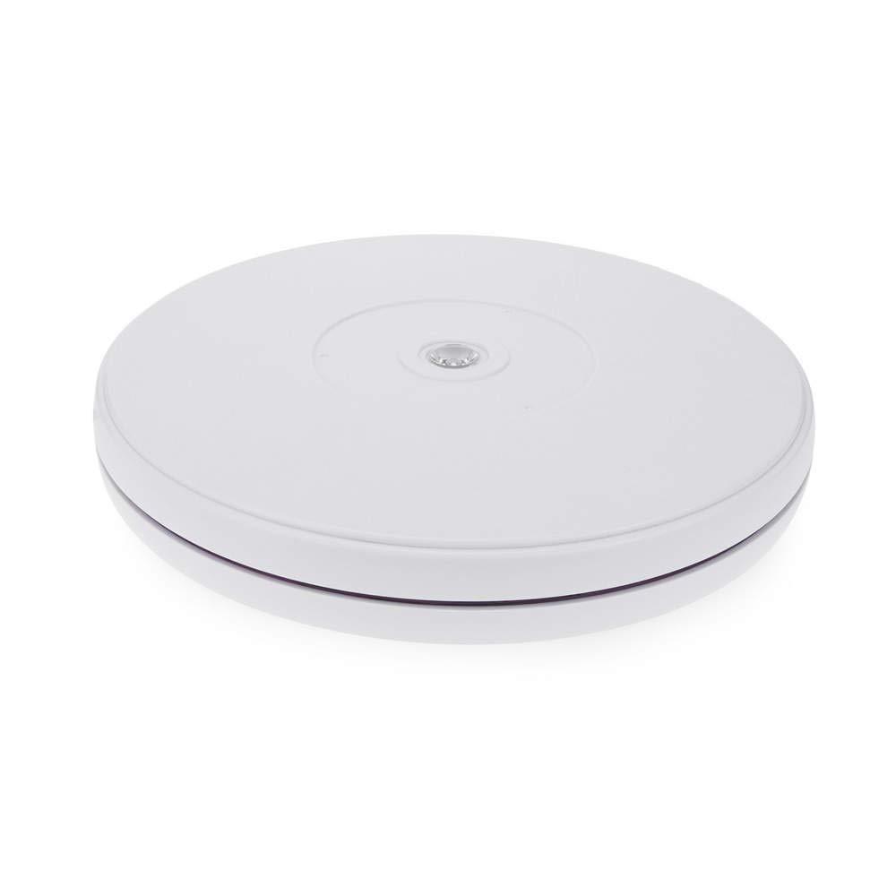 Cablematic – Vassoio girevole elettrico, D 250 x H 29 mm, bianco con illuminazione LED Cablematic.com PN15091418200123516
