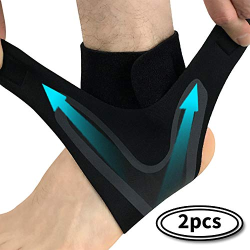 ARTHORN 1 Pair Ankle Support Compression Sleeve,Adjustable Lightweight and Breathable Ankle Brace for Men and Women,M