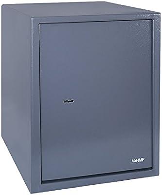 HMF 49208-11 Caja Fuerte, Cerradura de Doble Paletón, Caja de Seguridad para carpeta A4, 48 x 36 x 37 cm, antracita: Amazon.es: Bricolaje y herramientas