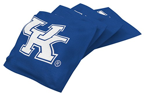 - Wild Sports NCAA College Kentucky Wildcats Blue Authentic Cornhole Bean Bag Set (4 Pack)