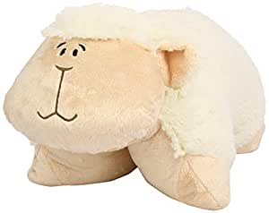 Pillow Pets 2152 - Oveja de peluche (46 cm), color blanco y rosa