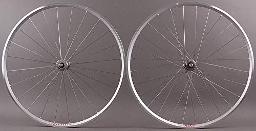 Velocity A23 Custom Built Phil Wood Track Bike Hubs Fixed Gear Wheelset Silver Hand Built