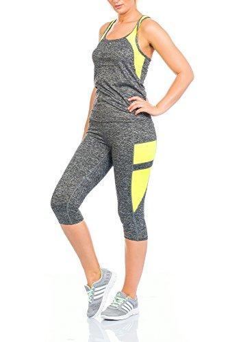 WeaModa - Chándal - para mujer amarillo fluorescente