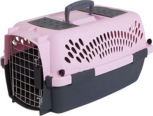 Aspen Pet Porter Heavy-Duty Pet Carrier,Lady Pink/Dark Gray,UP TO 10 LBS