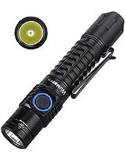 Wurkkos FC12 Zaklamp, 2000 lm, ultraheldere mini-ledzaklamp, 2-weg clip, USB-C oplaadbaar, compacte EDC zaklamp met tactische eindschakelaar voor indoor/outdoor-activiteiten, IPX8