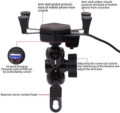 RETYLY Support de Chargeur USB Arri/ère pour T/él/éphone de 3,5 /à 6 Pouces avec Une Charge de La Lib/ération Solide du Support de T/él/éphone Portable pour V/élo Et Moto