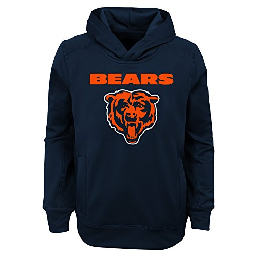 "NFL Chicago Bears Youth Boys ""Goal Line Stand"" Performance Fleece Hoodie Navy, Youth Medium(10-12)"