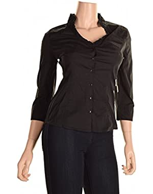 Guess Women's Ruffle V-Neck Lily Blouse