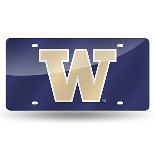 - NCAA Washington Huskies Laser Inlaid Metal License Plate Tag