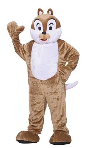 Forum Deluxe Plush Chipmunk Mascot Costume, Brown, One Size