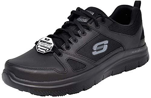 Mens Slip Sneakers - Skechers Men's Flex Advantage Sr Sneaker, Black/Black, 8 W US
