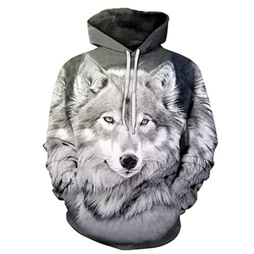 Space Galaxy Wolf Hoodie Hoodies Men Women 2019 Spring Autumn Pullovers Sweatshirts Sweat Homme 3D Tracksuit S