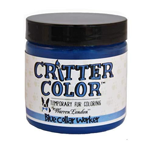 Dog Spray Paint Halloween (Warren London - Critter Color - Temporary Pet Fur Coloring - Blue Collar Worker - 4 Oz)