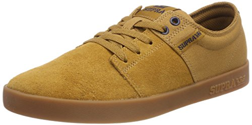 Supra Men's Stacks II '18 Shoes,7,Tan/Navy-Gum ()