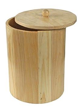 Poubelle de salle de bain ronde bois 7 L: Amazon.fr: Cuisine & Maison
