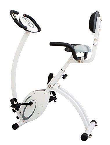 Body Rider 2-in-1 Folding Upright & Recumbent Bike Silver/White