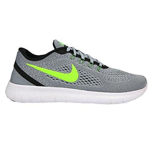 Nike Mens Vrije Rn Hardloopschoen (15 D (m) Ons, Zuiver Platina / Elektrisch Groen / Antraciet)