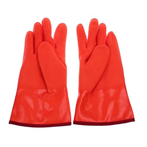 JSSFQK Guantes de nitrógeno Anti-líquido Guantes de congelación para Almacenamiento de Hielo Laboratorio cálido y...