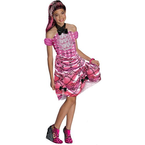 Monster High Draculaura Dot Dead Gorgeous Halloween Costume Medium (8-10) -